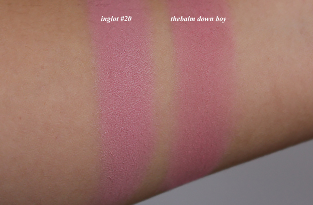 inglot 20 powder blush review swatch