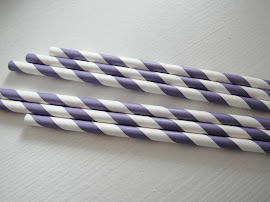 Paperstraws violett/weiss