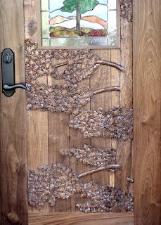walnut, carved, custom made, door, http://huismanconcepts.com/
