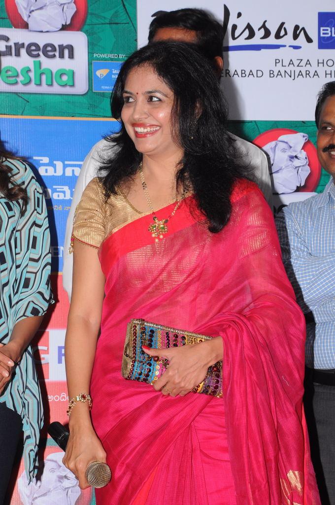 Sunitha photos at big green ganesh campaign launch