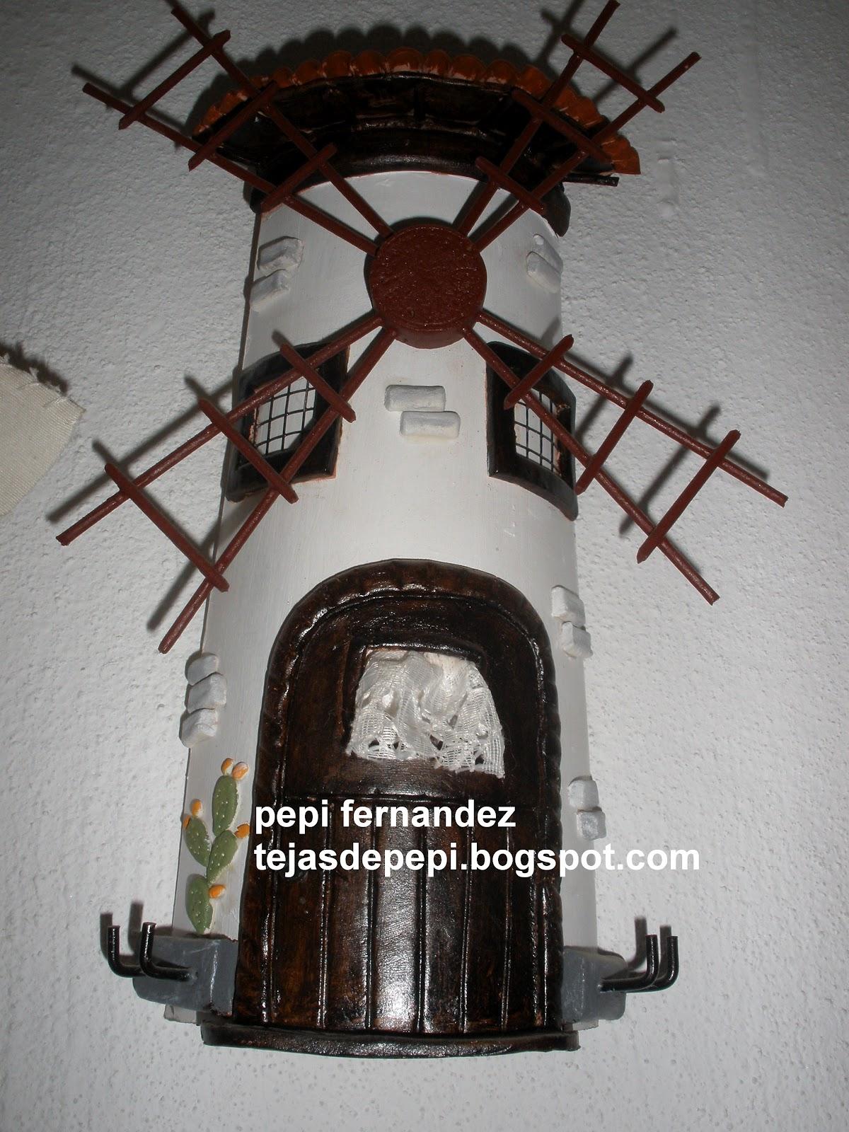 tejas y manualidades de pepi tejas decoradas con molinos