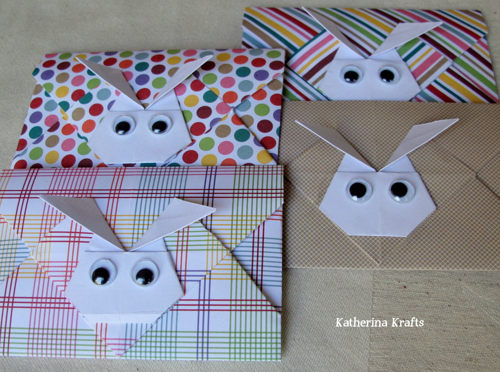 Easter Bunny Origami Envelopes