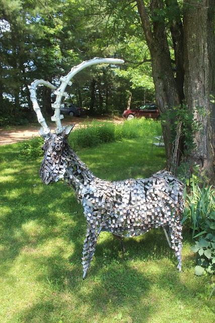 Roland the Ibex metal sculpture