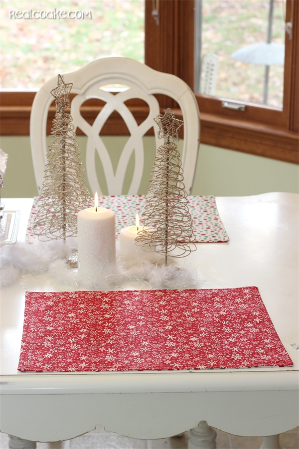 How to make Reversible Christmas placemats - Tutorial