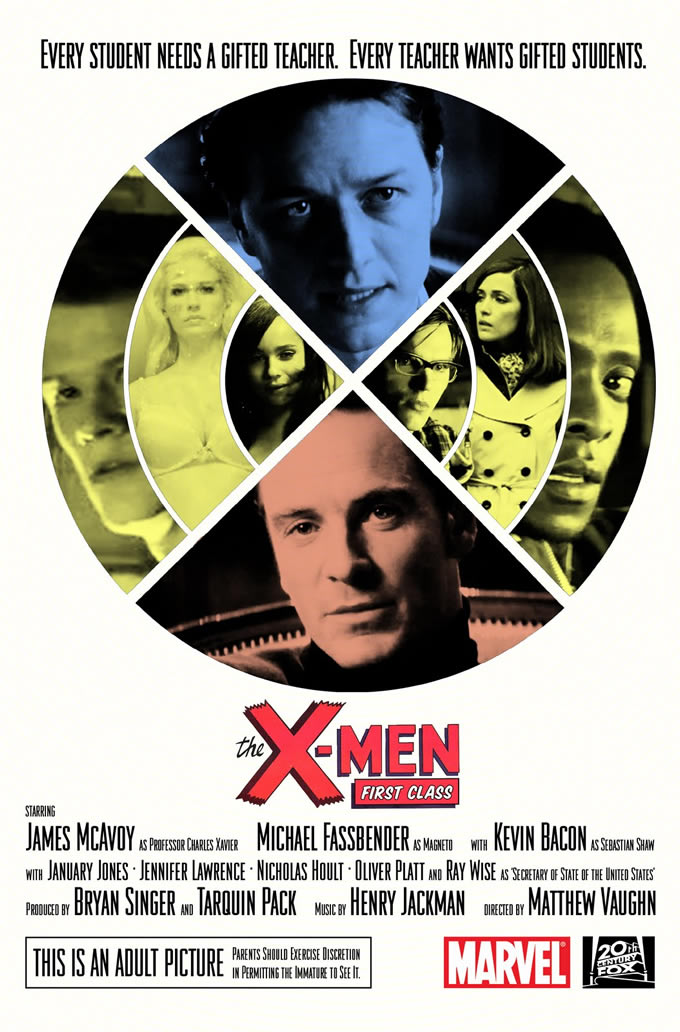 X-Men: First Class - poster alternativo