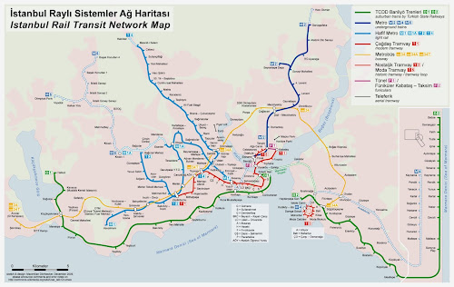 Mapa trens Istambul