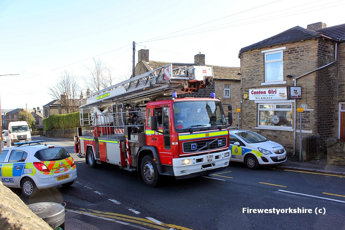 Male on roof, Wibsey, rooftop, Drama, burglary, Fire applaince, ALP