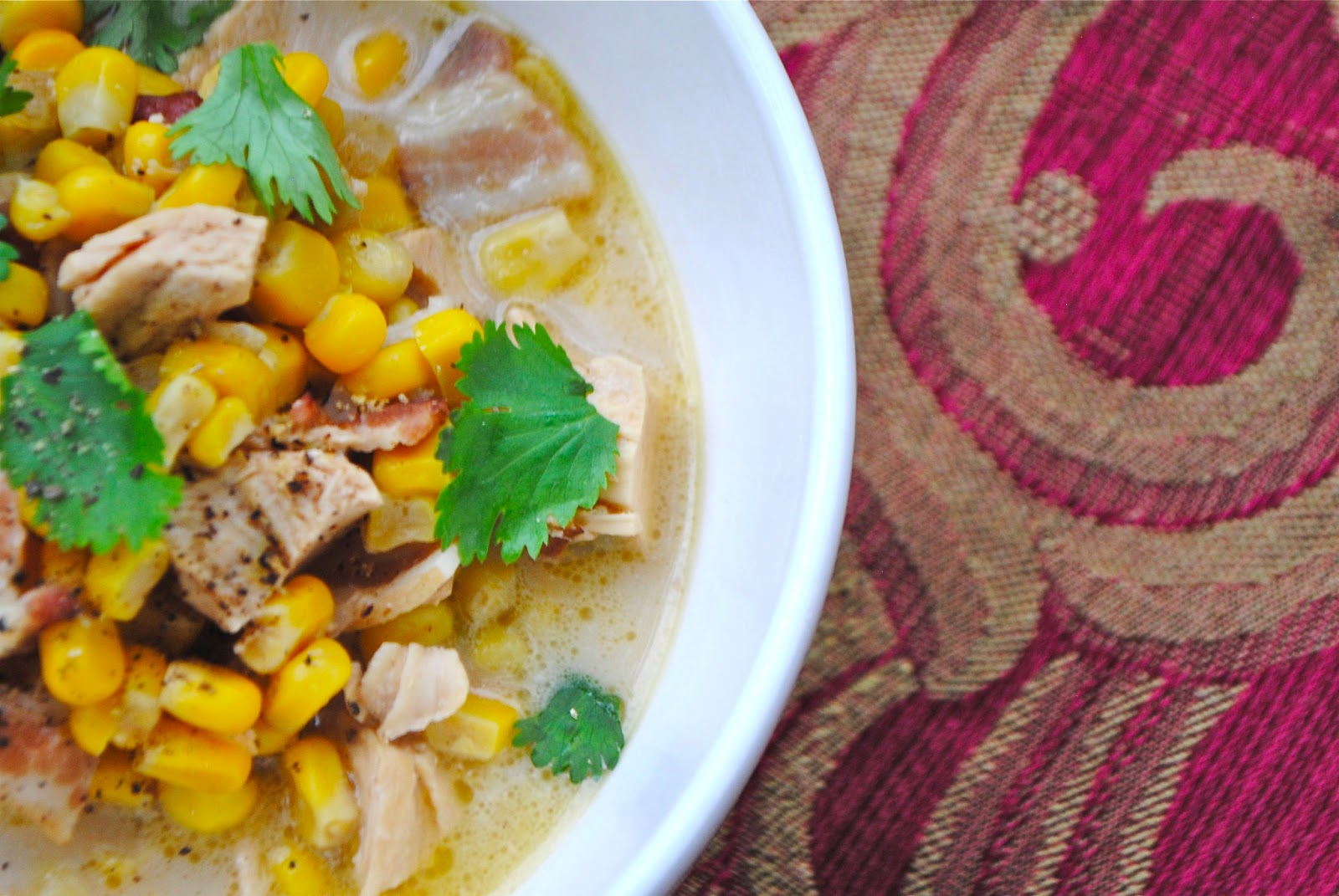 ... : SPICY CHICKEN AND CORN CHOWDER and ROASTED CAULIFLOWER POTATO SOUP