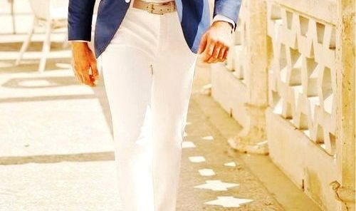 Blue blazer white shirt white pant combination men 39 s for Shirt and pants color combinations