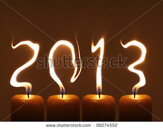Happy new year 2013 candles