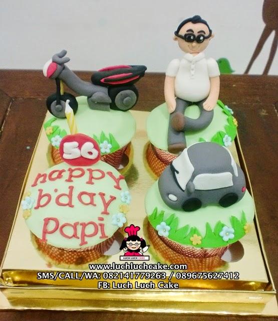 Cupcake Tema Mobil dan Motor Untuk Ayah
