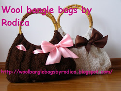 Wool bangle bags by Rodica