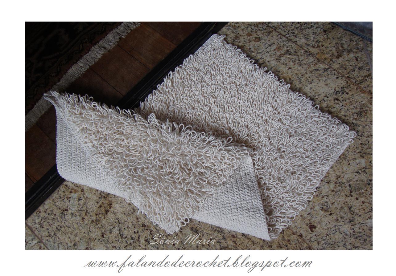 dentre os tapetes mais elaborados o tapete de crochê em