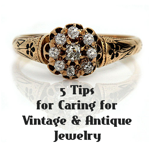 My vintage & antique jewelry is really important to me, so I love these tips on taking care of them!