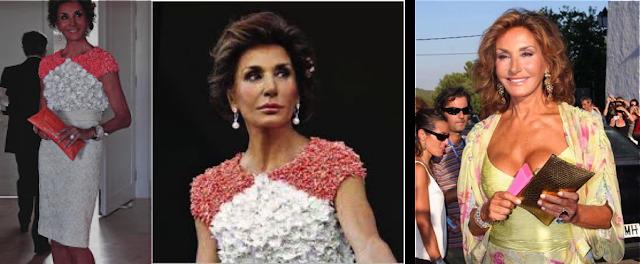 Naty Abascal vestida de Giambattista Balli, y Valentino