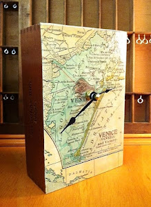 Vintage Map of Venice Cigar Box Clock