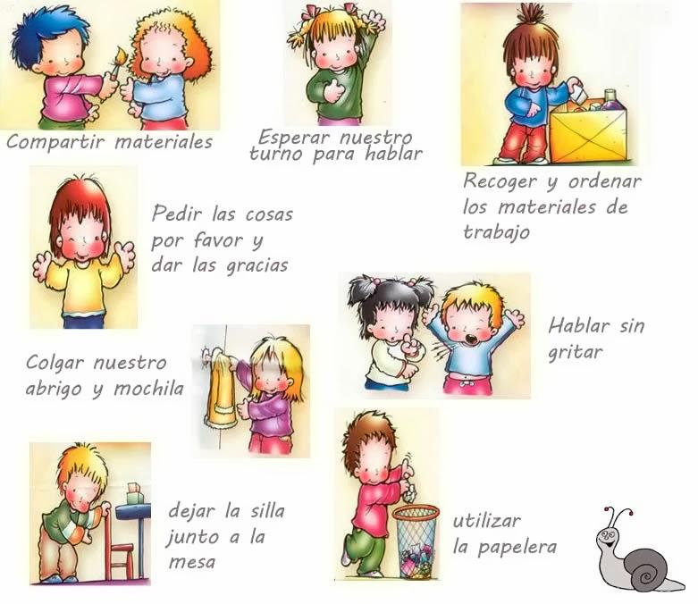 Baños Kinder Medidas:Caracol Miricol: Normas de convivencia en el cole
