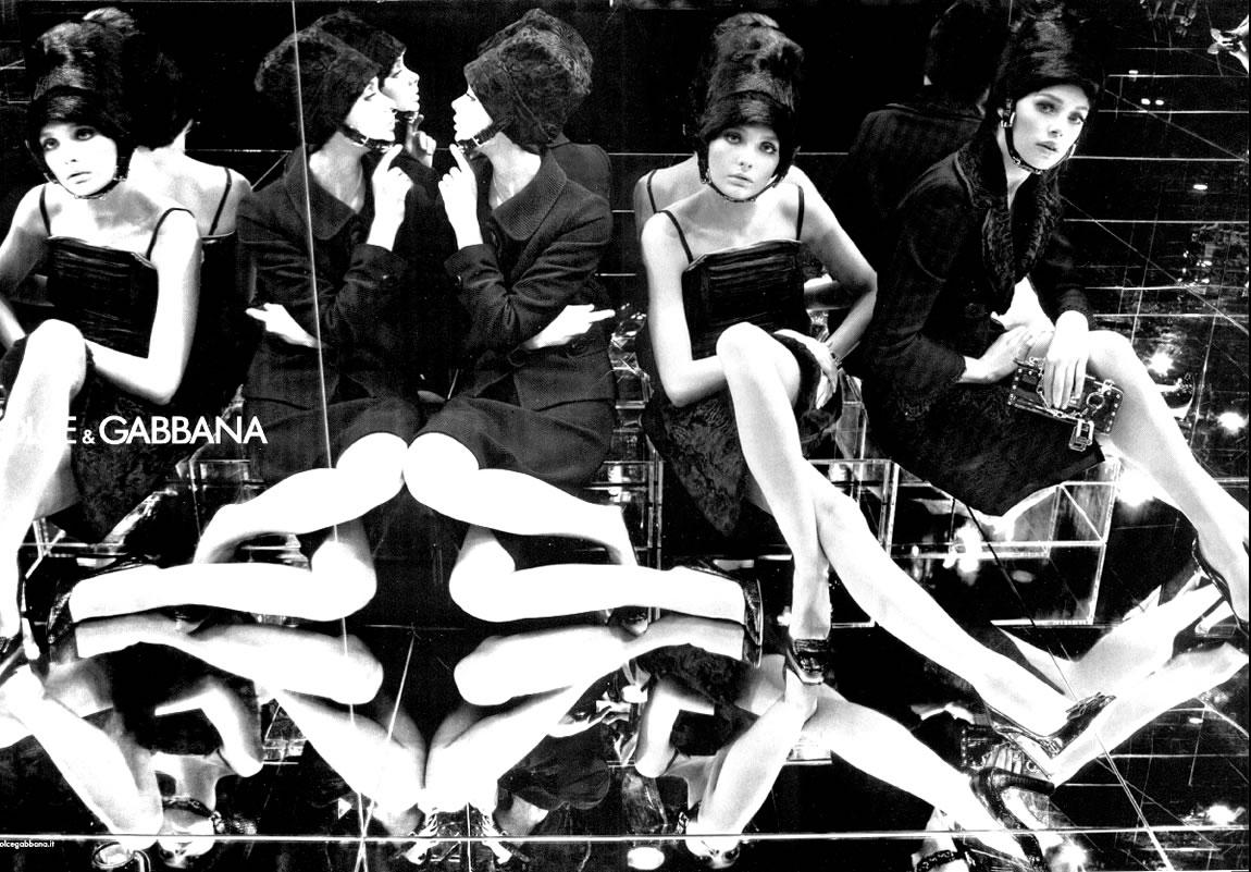 Inguna Butane, Doutzen Kroes & Snejana Onopka for Dolce&Gabbana Fall/Winter 2005 campaign (photography: Steven Meisel) / exlcusive interview / via fashioned by love british fashion blog