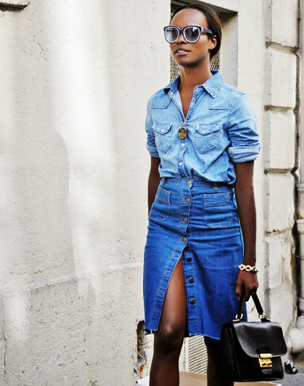 exPress-o: Button-up denim skirt: Thumbs up or down?