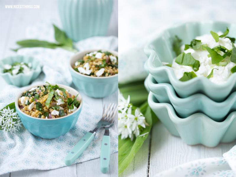 frühlingshafte Food Photography / Frühling Bärlauch Ebly Ziegenkäse