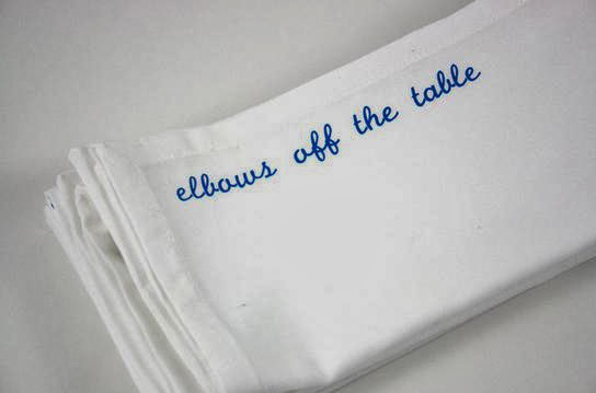 Elbows Off Napkins