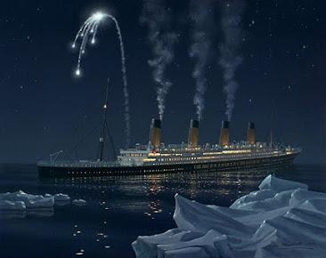 Titanic Begins to Go Under