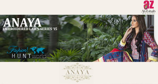 Al-Zohaib Textile - Anaya Embroidered Lawn Series 2015-2016