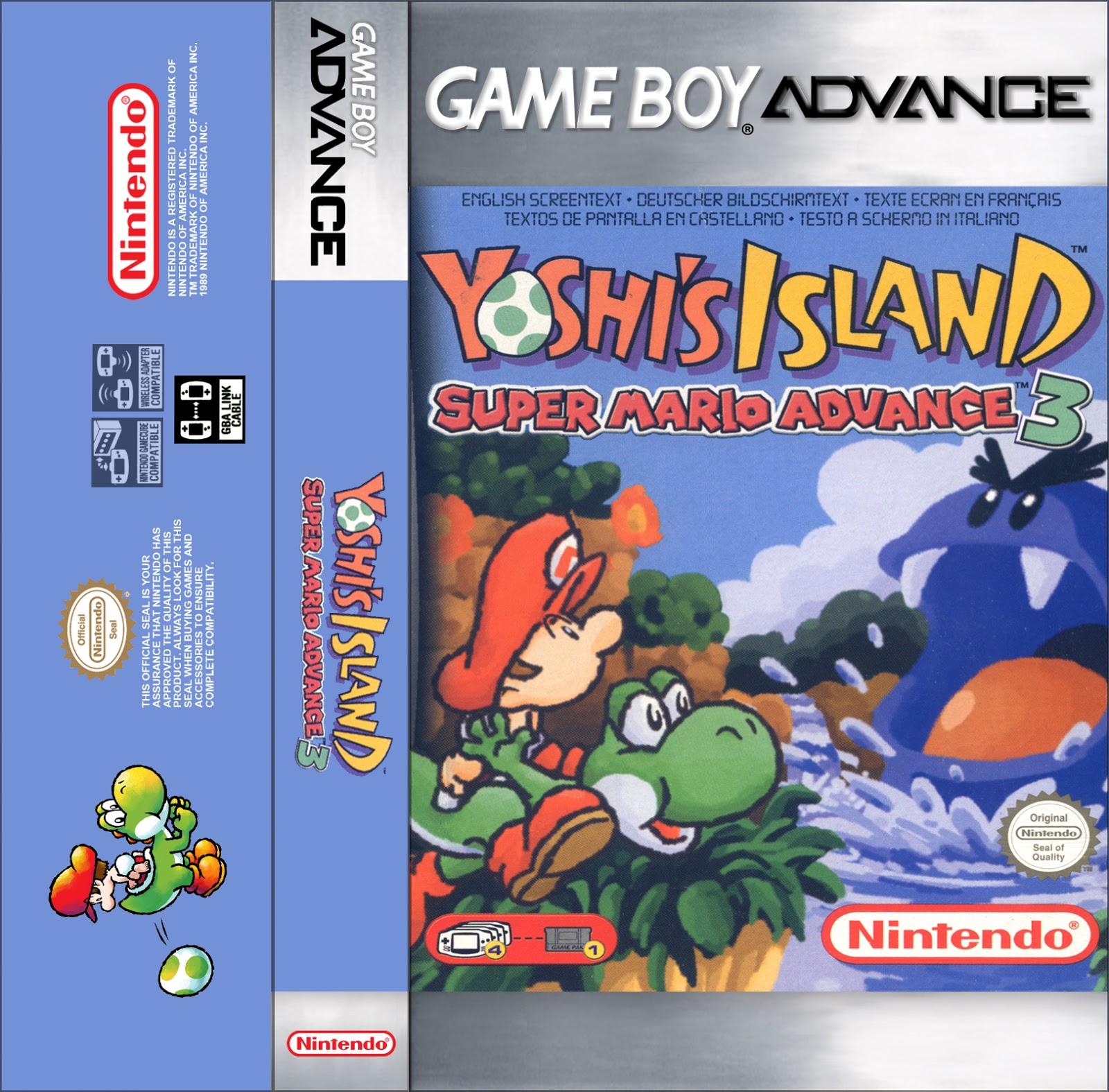 Game boy color super mario bros deluxe - Super Mario Advance 3 Yoshi S Island Game Boy Advance Cassette Cover