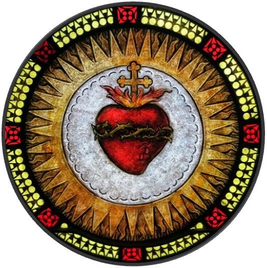 Heilig Hart glas in lood