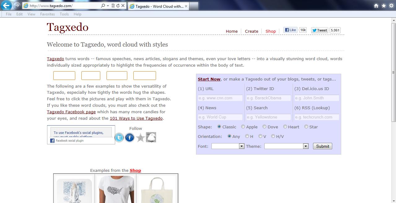 The web 20 savvy go to tagxedo website httptagxedo 2 click on start now freerunsca Choice Image