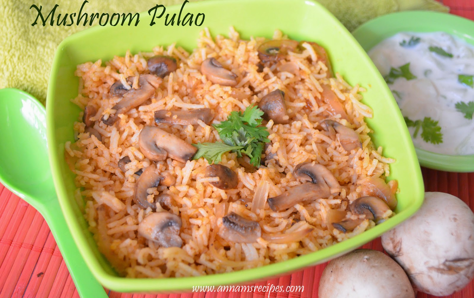 Mushroom Pulao