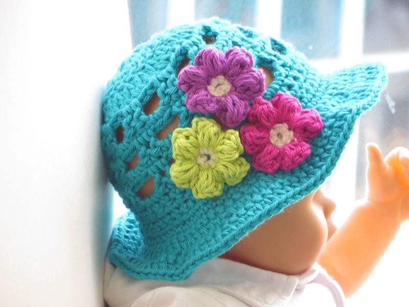 Crochet Sun Hat for Girls, Newborn to 10 years (pdf pattern for sale ...
