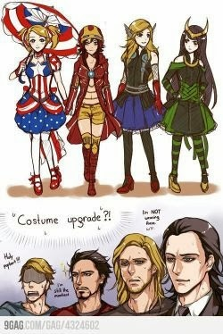 Costume upgrades