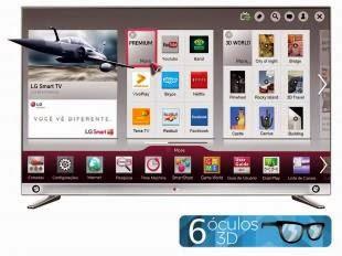 """Compre Já Sua Smart TV LED 3D 55"""" LG 4k por apenas R$6.499,00!"""