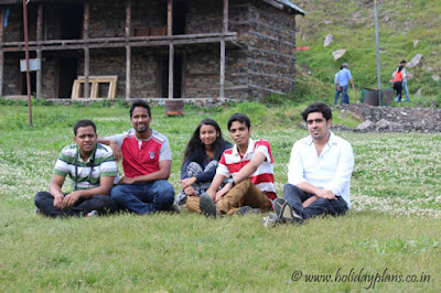 Relaxing near Prashar Lake