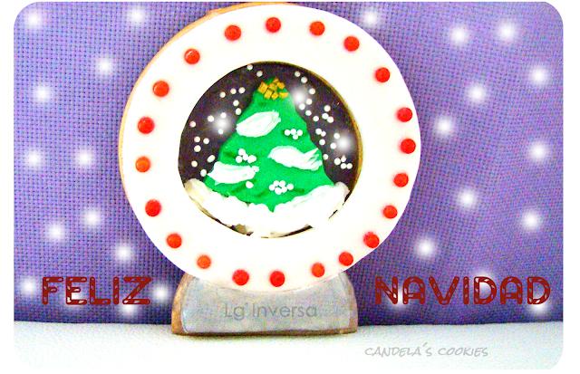 Galleta decorada bola de navidad