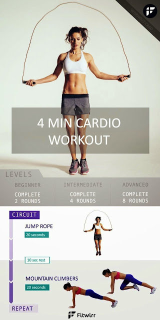 4 Minute Fitness Workout Cardio to Burn Stubborn Fat
