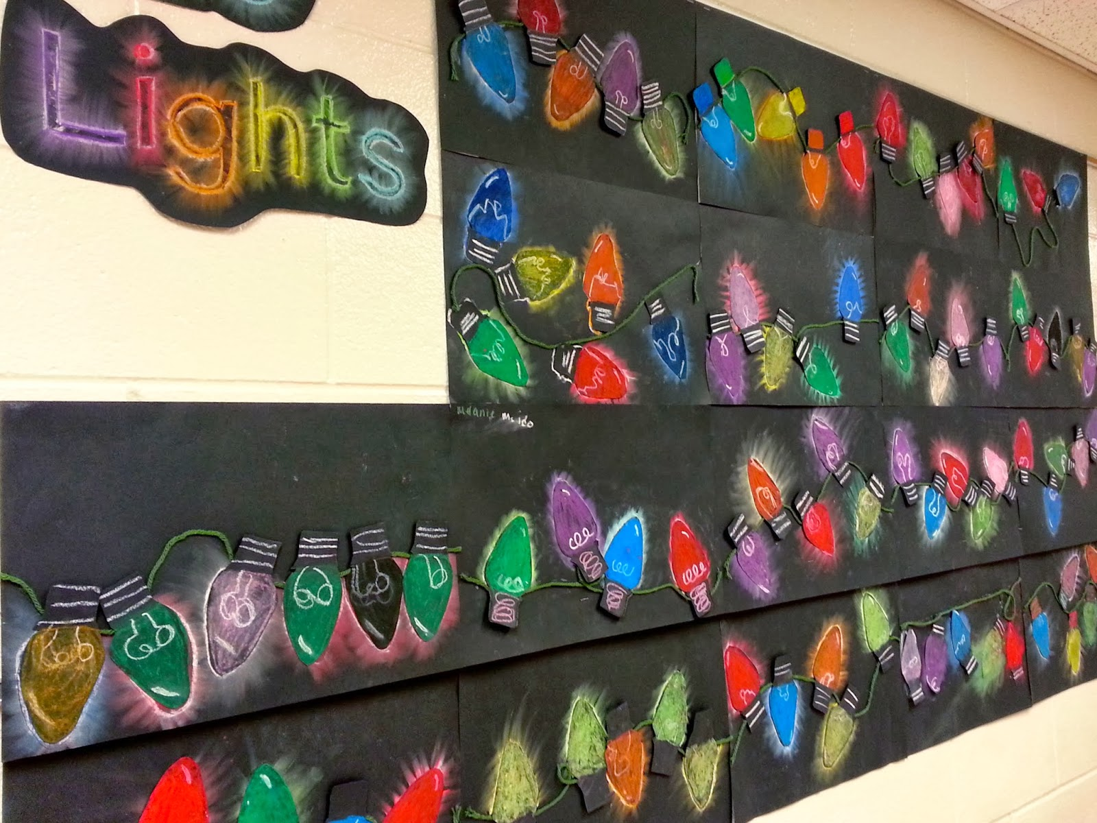Holiday Value Lights (4th) - Art with Mrs. Nguyen