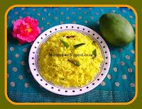http://www.momrecipies.com/2010/03/mamidikaya-pulihora-mango-rice-ugadi.html
