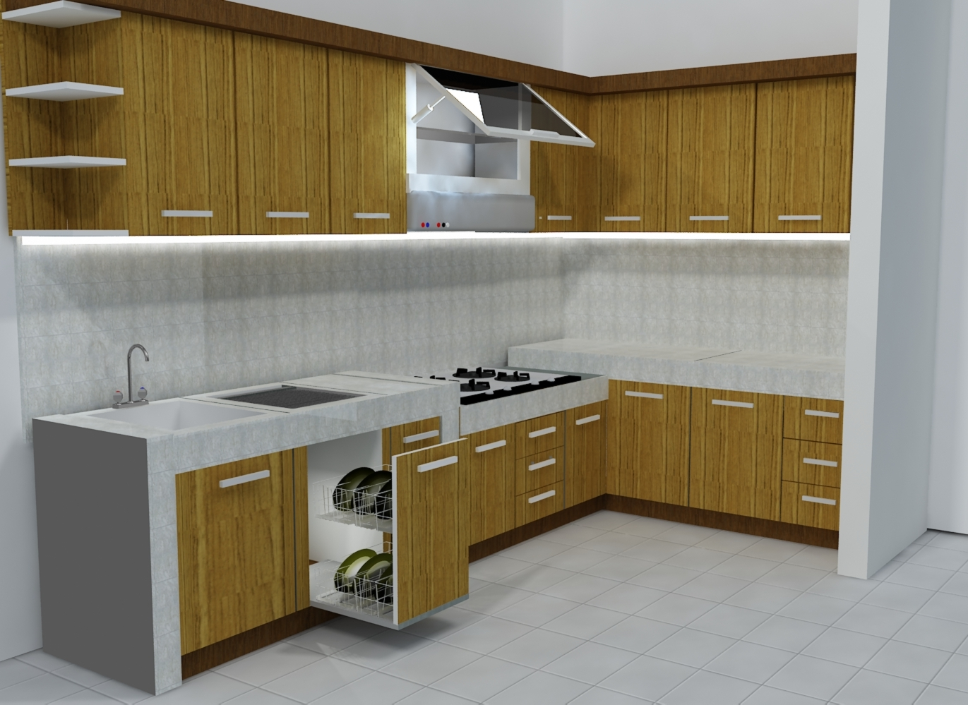 Tips to designing kitchen set kitchen set design for Model kitchen set sederhana