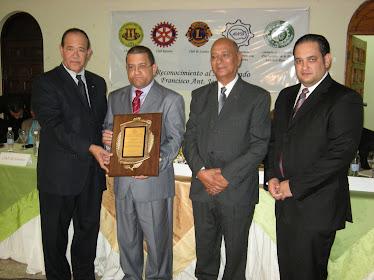 Asociacion Para El Desarrollo De La Prov. Sánchez Ramírez, Reconoce al Juez Francisco Jerez