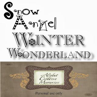 "Free scrapbook word art ""Snow Days"" from Alybet Creative Memories"