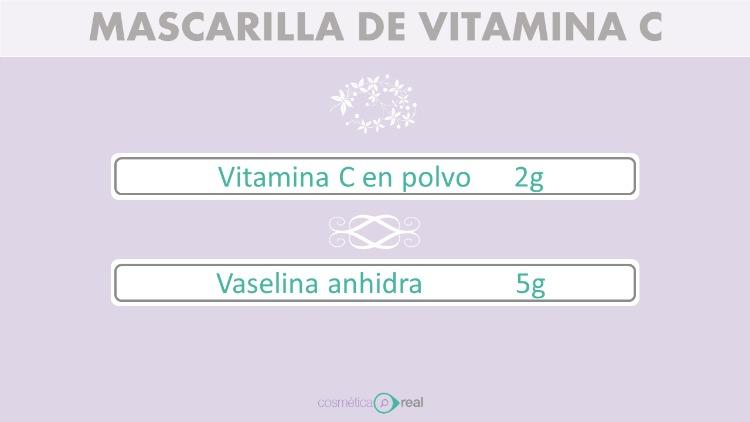 Mascarilla luminosidad de vitamina C