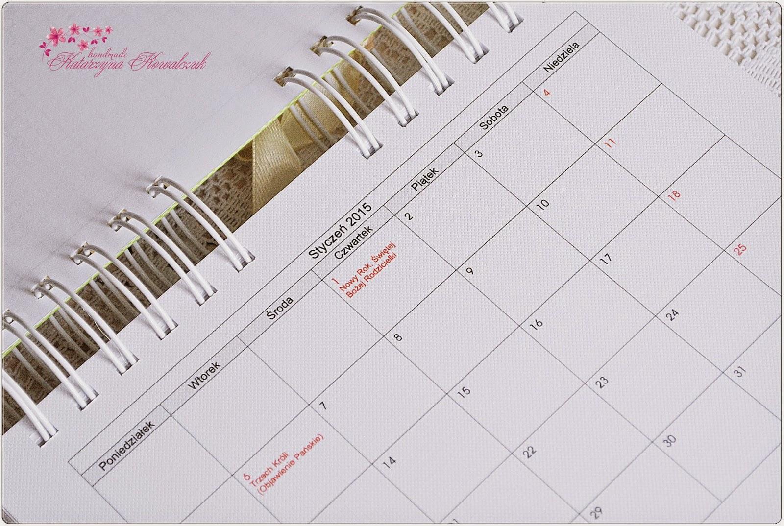 Kalendarz 2015 scrapbooking