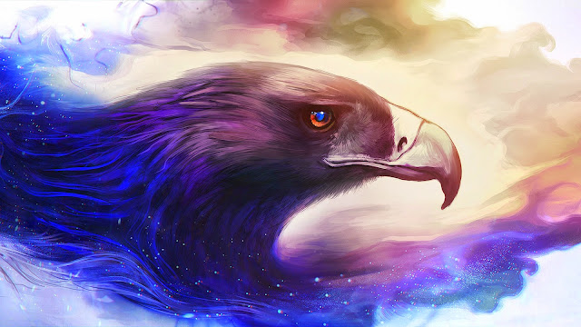 Fondo de Pantalla Pintura de una Aguila Americana