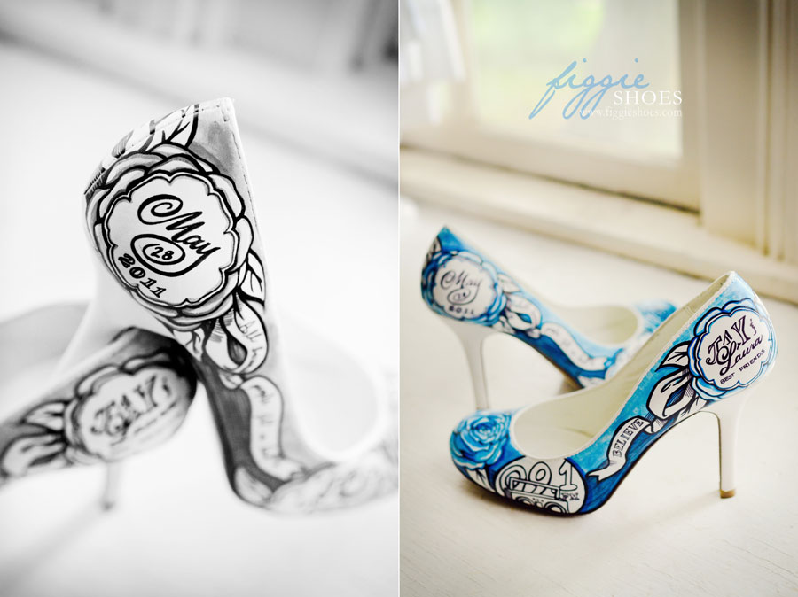 Hand Painted Wedding Shoes Figgie