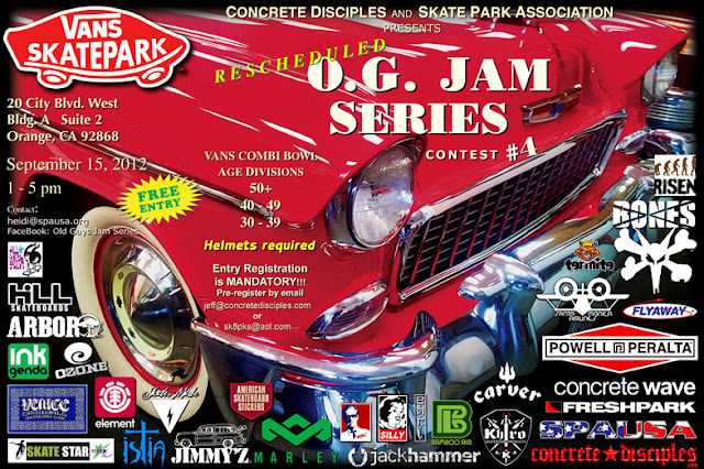 Fourth OG Skate Jam at the Combi September 15th, 2012
