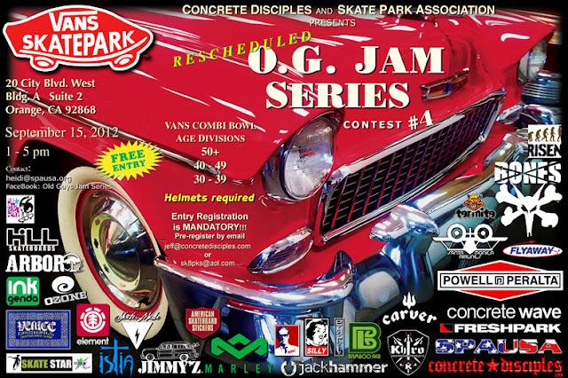 Fourth OG Skate Jam at the Combi September 15th, 2012