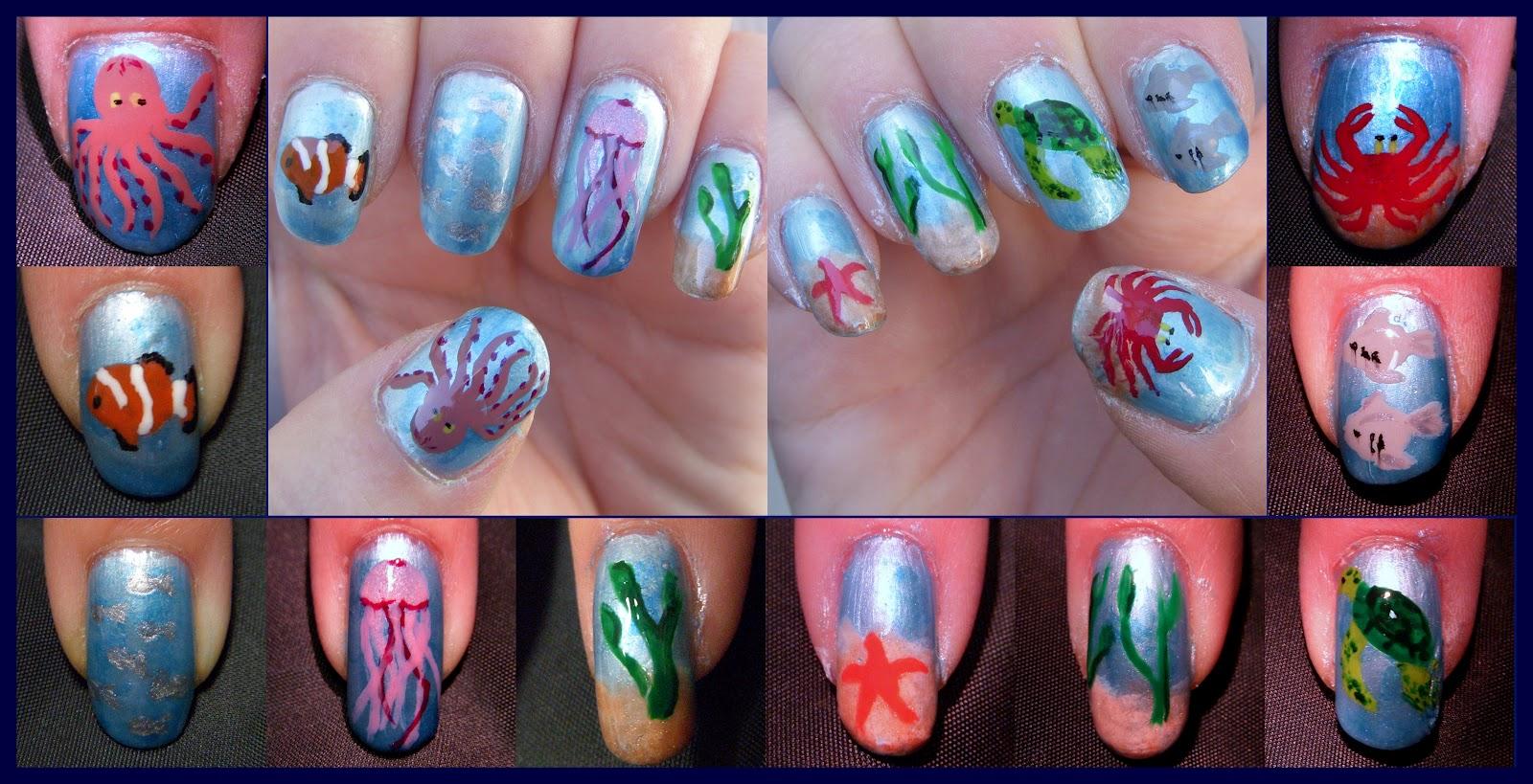 quixiis nails 071412 sea life nails