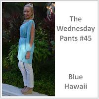 Sydney Fashion Hunter The Wednesday Pants #45 - Blue Hawaii